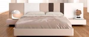 Moderno dormitorio en Zaragoza rosas y marrones