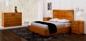 Dormitorio clásico cama alta en Zaragoza