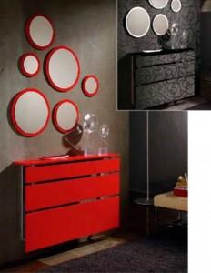 Cubreradiadores modernos rojo