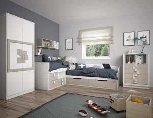 dormitorios juveniles madera blanca Zaragoza