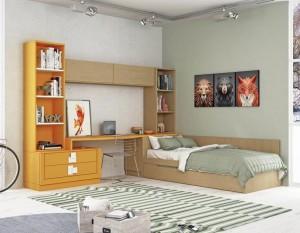 Muebles de madera en dormitorio juveniles en Zaragoza
