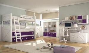 Dormitorio juvenil morado Zaragoza