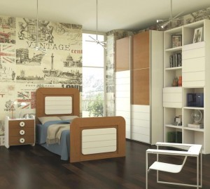 Dormitorio juvenil madera Zaragoza