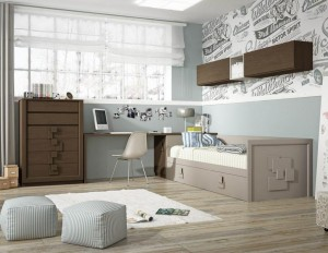 Dormitorio gris madera Zaragoza