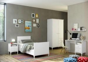 Dormitorio juvenil blanco Zaragoza