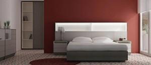 Dormitorio color granate moderno Zaragoza