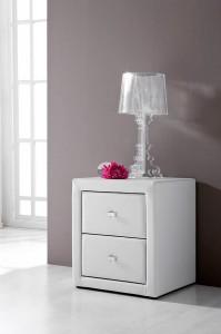 Mueble auxiliar blanco, 2 cajones