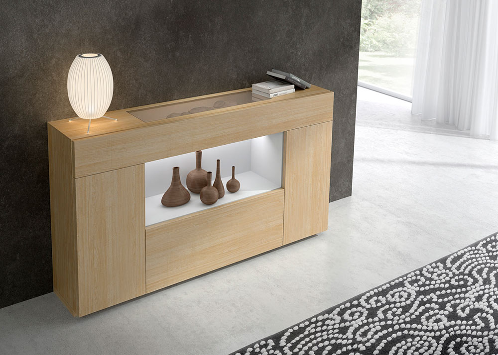 Mueble auxiliar mundo madera zaragoza for Mueble entrada