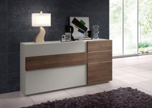 Mueble auxiliar blanco y madera