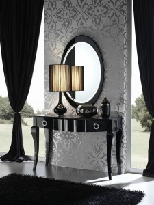 Mueble auxiliar entrada negro