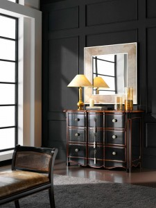 Mueble auxiliar de madera con 9 cja