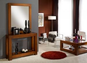 Mueble auxiliar entrada de madera