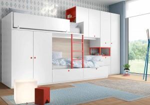 muebles juveniles en zaragoza literas blancas y rojas en melamina