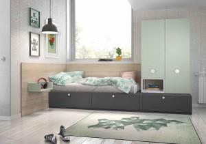 muebles juveniles en zaragoza tonos grises melamina