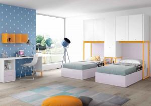 muebles juveniles en zaragoza grises y naranjas melamina