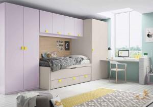 muebles juveniles en zaragoza colores pastel melamina
