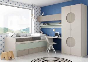 muebles juveniles en zaragoza grises y azules melamina