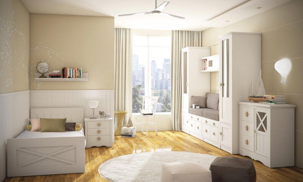 Dormitorio juvenil lacado Mundo Madera
