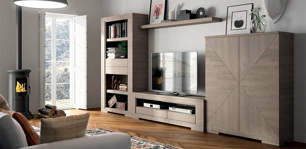 Salones contempor neos mundo madera for Muebles para tv contemporaneos
