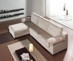 Sofá amplio tres plazas blanco