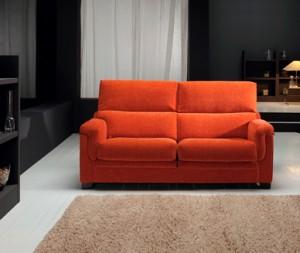 Sofá naranja dos plazas