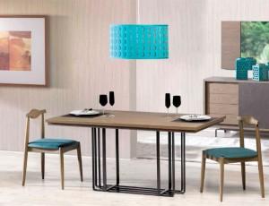 Mueble mesa de madera salón