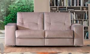 Sofá dos plazas marrón claro