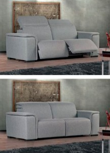 Sofá cama gris dos plazas