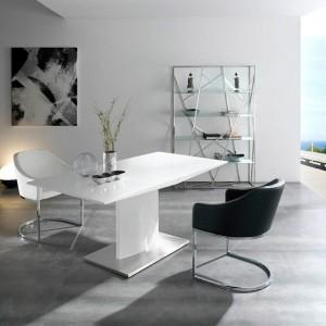 Mesa moderna blanca despacho