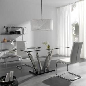 Mesa cristal despacho moderna