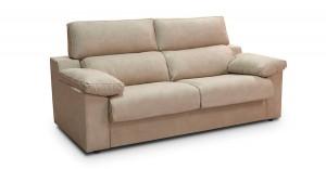 Sofá color crema cómodo dos plazas ancho