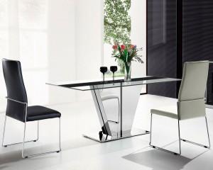 Mesa cristal y negra