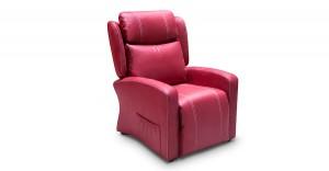 Sillón reclinable rojo