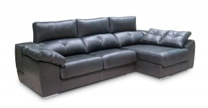Sofá negro tres plazas