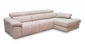 Sofá cómodo color blanco roto muy amplio