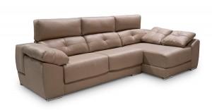 Sofá marrón crema tres plazas