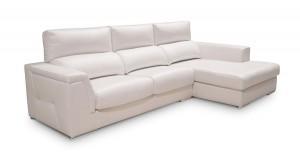 Sofá blanco tres plazas muy amplio