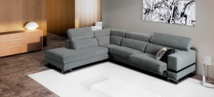Sofá amplio color gris
