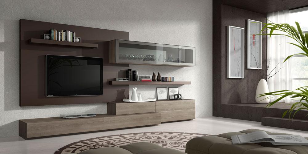 Muebles de sal n a medida mundo madera - Muebles de madera para salon ...