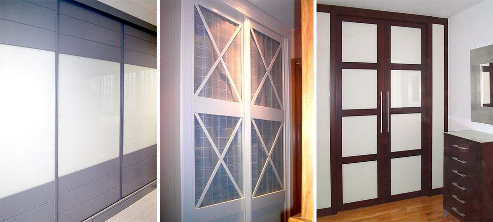 armarios con puertas correderas en madera