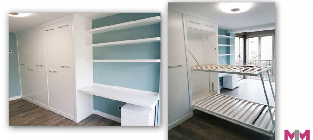 Camas abatibles en Zaragoza para dormitorios pequeños