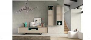 Mueble moderno para salón en color nude.
