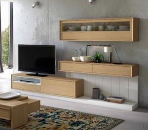 Salones de madera modernos