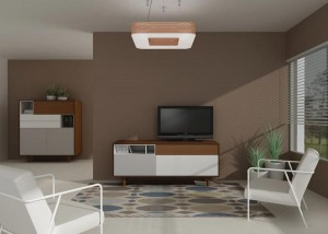 Mueble moderno tamaño mediano para salón.