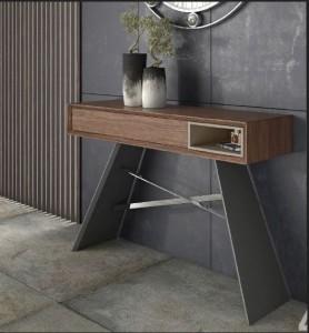 Mueble auxiliar de madera con 2 patas