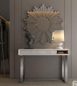 Mueble auxiliar y espejo